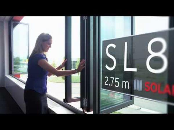 Embedded thumbnail for Управление потоками воздуха и температурой с помощью фасада Solarlux - является залогом комфорта для офиса Solarlux в Nijverdal.